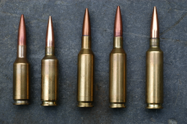 A few of the 6mm cartridges – 6BR, Dasher, Swiss Match, 6-6.5x47 Lapua and the Smack