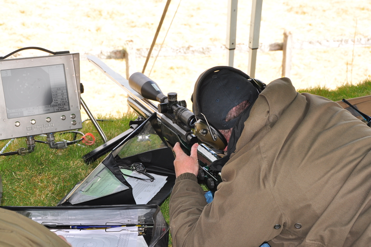 Open shooter Mark Bannon featured in the medals shooting his Open gun off a bipod.