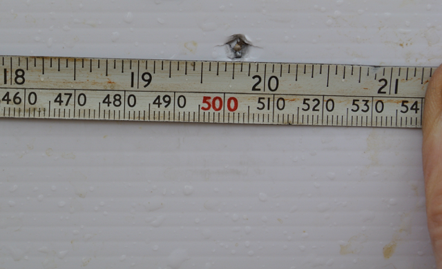 The tape measure doesn't lie – in a perfect world it would read nearer 21 inches