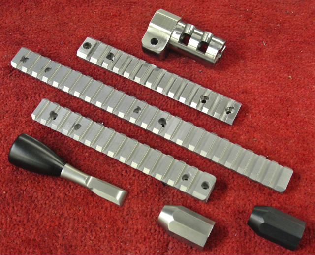 Lots and lots of accessories are available – shrouds, bolt-handles, bolt-knobs, Pic rails and muzzle-brakes