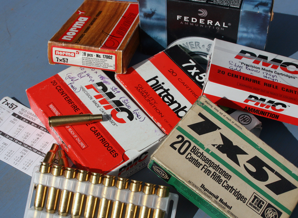 The test materials – a mix of 7X57 once-fired cases.