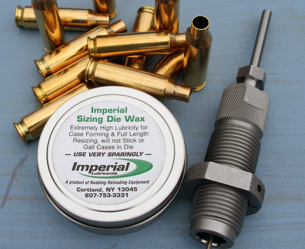 Tools (1): Imperial sizing wax and a recent Hornady die.