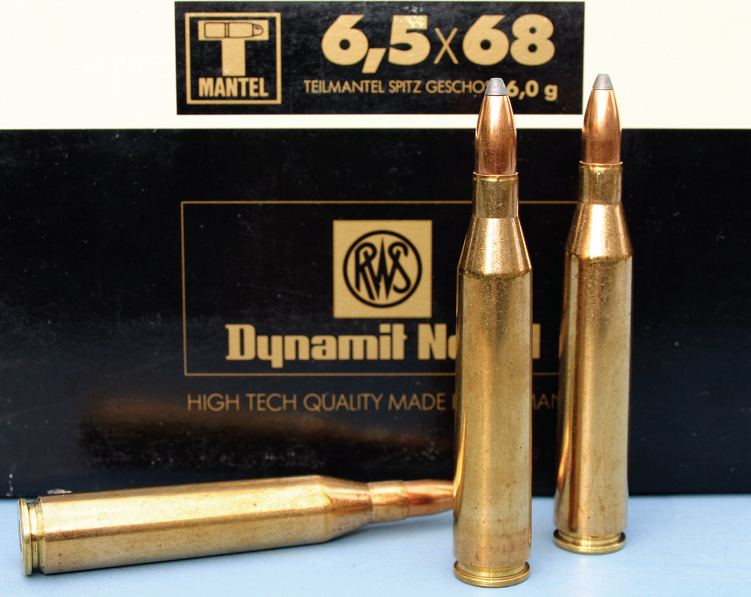 RWS introduced the powerful 6.5X68mm in 1939 and it is still in use in Europe