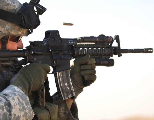 The 5.56mm US M4 carbine and its 14-inch barrel produced a perceived need for ammunition offering improved terminal ballistics.