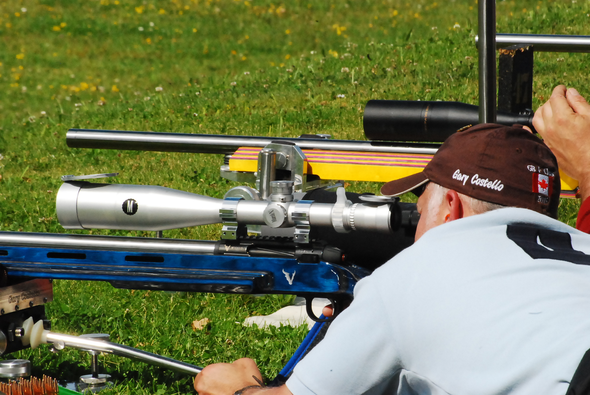 Gary on his way to a stage win with the Victrix F Open rifle.