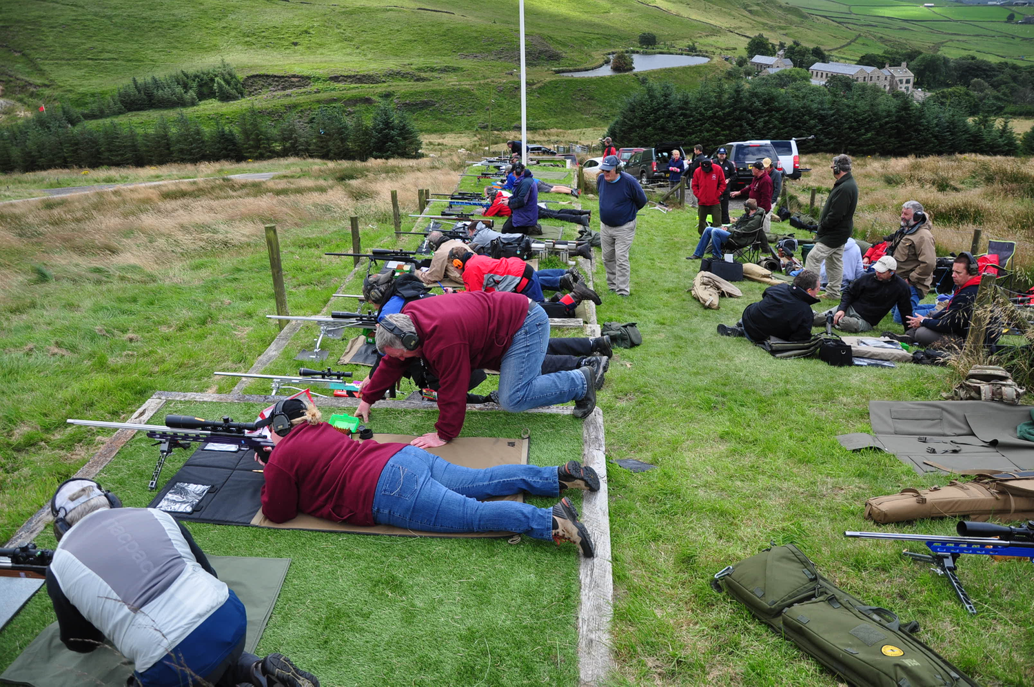 A busy firing point at the start of Day 2