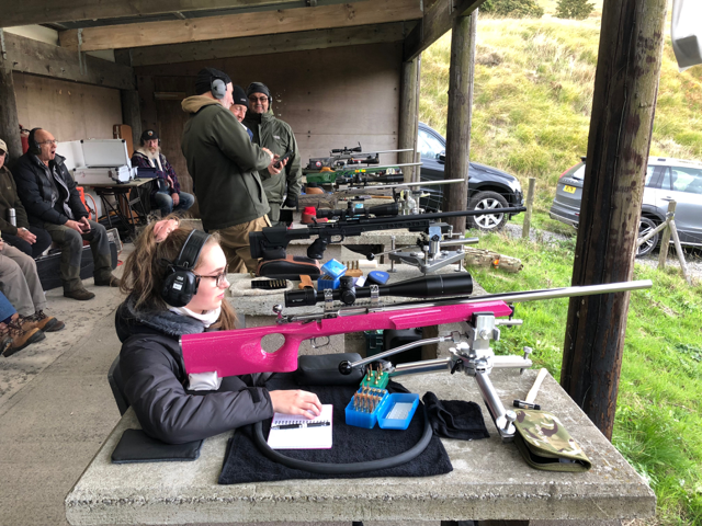 Her first benchrest competition - at 600 yds